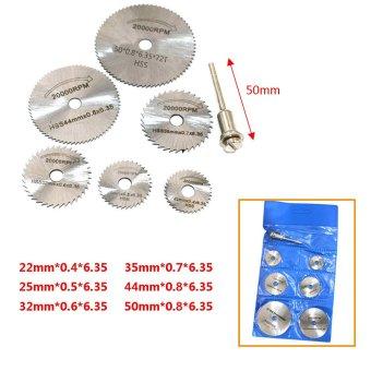 7pcs/set Circular Saw Blades HSS Oscillating Multitool Blades Cutting Discs With 1pc Mandrel Dremel Mini Drill Accessory HW301 - intl ...