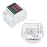 ... AC80-300V 100A Multi-fungsional Digital DIN Rail Voltage Power Factor Meter Pengukur Amper