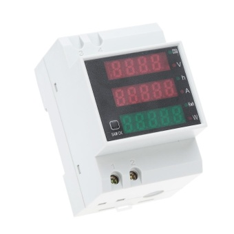 AC80-300V 100A Multi-fungsional Digital DIN Rail Voltage Power Factor Meter Pengukur Amper