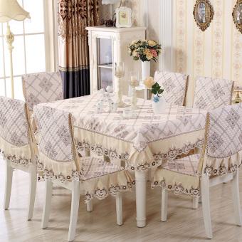 Air Lotus pastoral penutup meja kopi kain kursi makan meja tikar kain