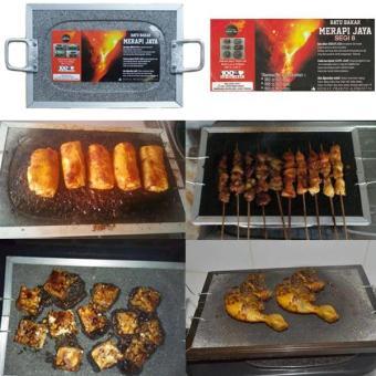 Alat Pemanggang Daging/Roti/Pisang dari Batu Lava Merapi Grade A ukuran 20 x