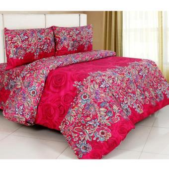 Alona Ellenov Mawar Batik Merah Bed Cover Set - Merah