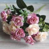 Buatan 15 Heads Rose Mewah Simulasi Tanaman Bunga Palsu Pesta Rumah Wedding Ulang Tahun Dekorasi Bunga