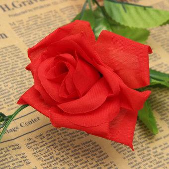 Autoleader 2.4 M Plastik Sutra Kain Rose Bunga Ivy Tanaman Merambat Gantung Garland Pernikahan Dekorasi Rumah