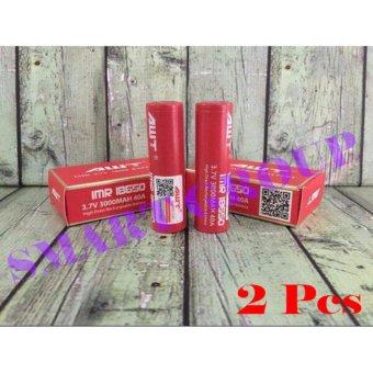 AWT 18650 Baterai 3000mAh 40A 3.7V ORI - Merah 2Pcs