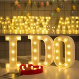 Balonasia Dekorasi Alfabet ( U ) Lampu LED Illuminated Marquee Sign - Dekorasi LED Marquee Word Sign photoprops- hiasan kamar / natal / tahun baru / Letter Sign Light Battery Operated (23cm x 4cm) - 2