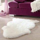 ... Beau Imitasi Kulit Domba Super Lembut Penutup Kursi Hangat Bantalan Kursi Karpet Berbulu Halus Putih- ...
