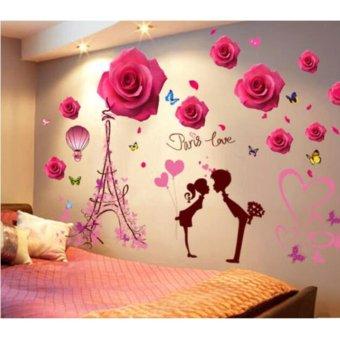 Mawar Yang Indah Love Di Paris Wall Sticker R Tidur Rumah Mural Dinding Decals Dekorasi