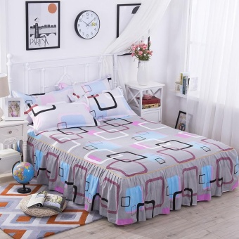 Bedding Sheet Bed Skirts Bedspreads Mattress Protective Cover Antislip Bed Skirt Fitted Bedsheet Bedspread Home Textiles 120*200CM -intl