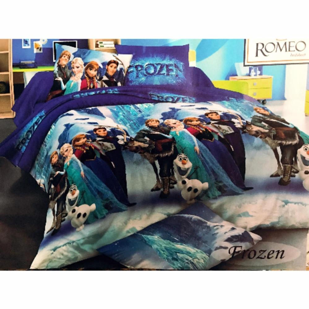 Best Romeo Seprai Anak Frozen Katun Import Uk 120x200 Biru Daftar Sprei  Single 339 401 Review Of Belanja Murah