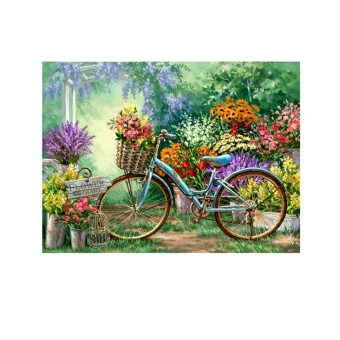 Bike Bunga 5D Diamond DIY Lukisan Kerajinan Kit Home Decor-Intl