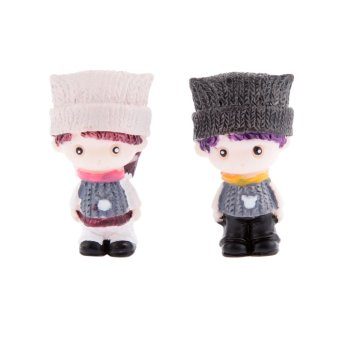 BolehDeals 2 x Miniatur Micro taman peri pemandangan patungdekorasi rumah boneka Bonsai #2