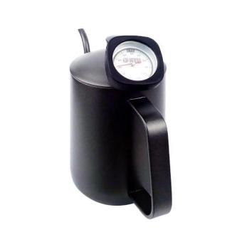 BolehDeals Stainless Steel Coffee Pot Gooseneck Kettle withThermometer 600ml Black - intl