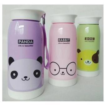 Botol Minum Termos Karakter Animal Stainless Steel 500 ml Elephant