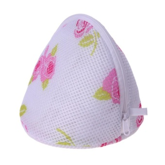 Bra Underwear Laundry Bags Mesh Household Cleaning Tools(Floral) - intl