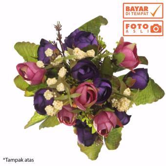 Cek Harga Baru 1 Tangkai Setangkai Mawar Rose Bunga Plastik ... 1878c7b3b4