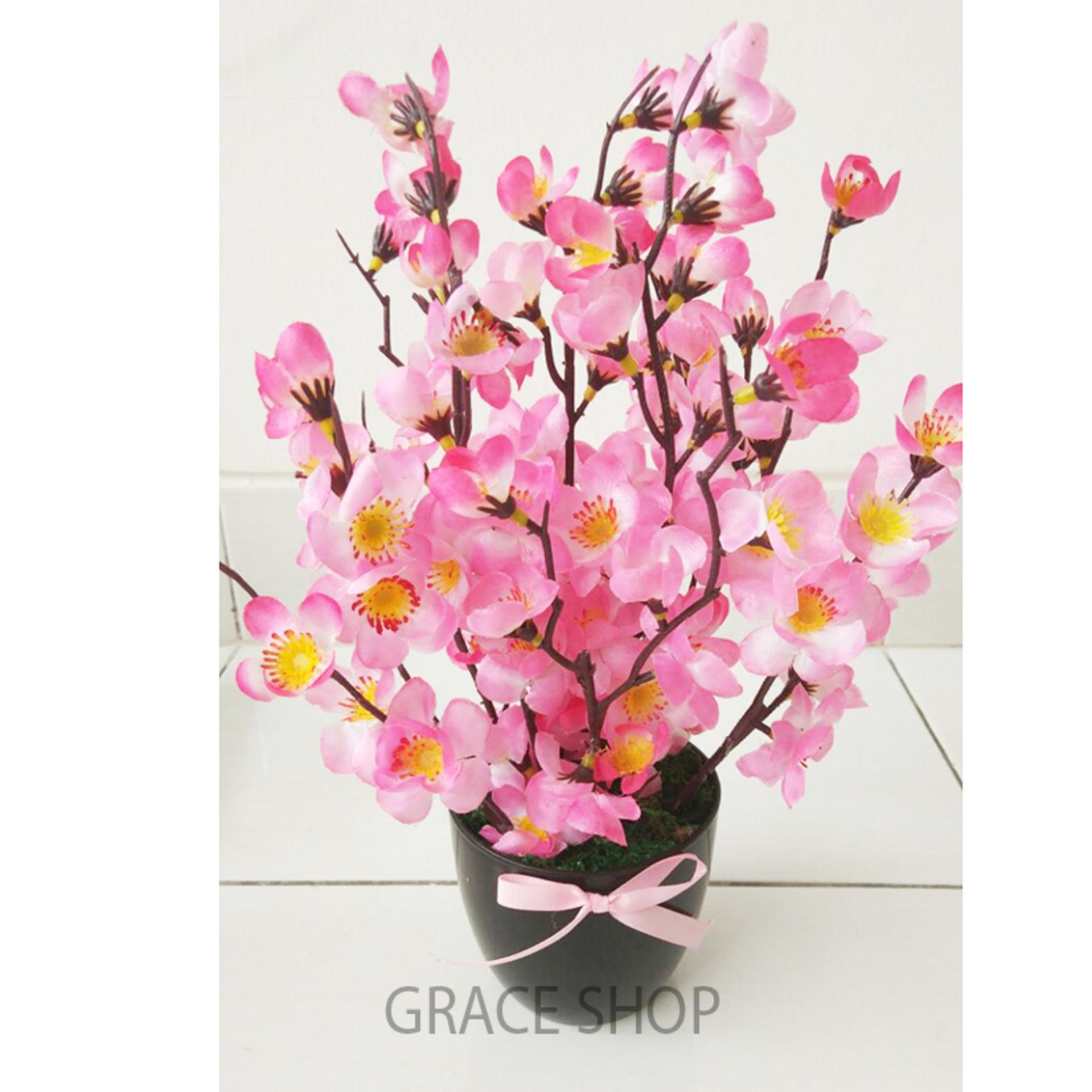 Shock Price BUNGA plastik artificial ARTIFISIAL palsu SAKURA 1 Pcs  penjualan Hanya Rp69 . b1a3e20684