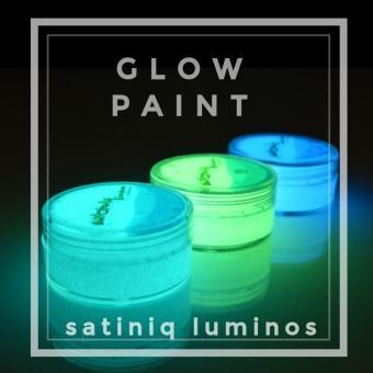 Cat Fosfor Lukis Cat Acrylic Glow Paint Cat Fosfor Water Based Cat glow Satiniq Luminos