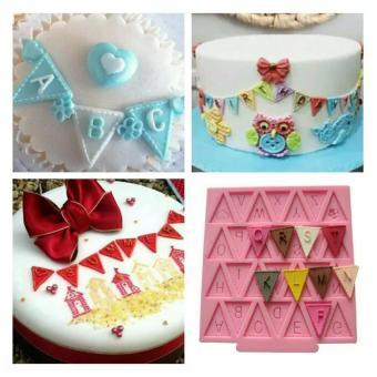 Cetakan Fondant Alphabet 10 X 10 Cm Huruf Abc Dekorasi Kue Cokelat Ulang Tahun Cup Cake