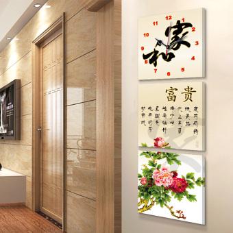 Harga Cina Modern Lukisan Bingkai Jam Dinding Gambar