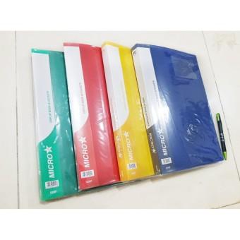 Clear Holder 40 lembar Folio / F4 Map Document Display Book 40 Pockets