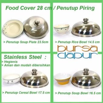 Supra Stainless Steel Food Cover/ Tutup Piring Makan