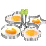 ... Alat Dapur Stainless Steel Memasak Telur Goreng Pancake Ring Cetakan Bulat - 5