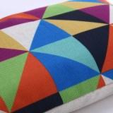 Kreatif pola kotak-kotak katun tebal sarung bantal 30 x 50 pinggang .