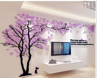 Creative Tree 3d Stereo Acrylic Wall Stickers Living Room Sofa TV Background Wall Interior Room Warm