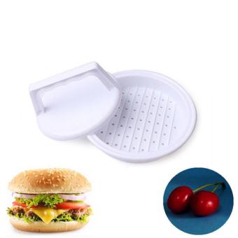 Daging Hamburger Beef Burger Press Plastik Grill Memasak Dapur Pembuat Cetakan Putih International