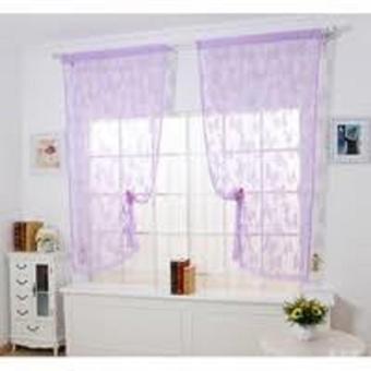 DapurBunda KRI Tirai Benang Pintu Dan Jendela Cantik Motif Kupu Kupu - UNGU