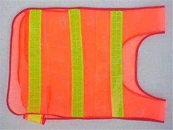 HARI/Night Safety Keamanan Bersepeda Menjalankan Jogging Visibilitas Reflektif Reflektor Mesh Rompi Kerja (Orange