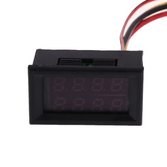 DC 0-100 V 50 Amp Pengukur Tegangan Volt Pengukur Amper Merah Amplifier Digital Panel
