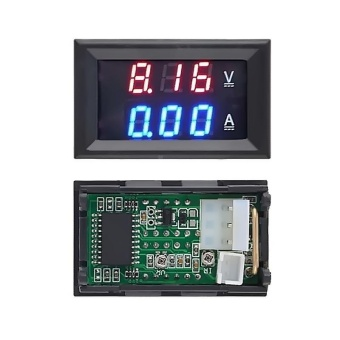 DC 100V 10A Voltmeter Ammeter LED Dual Digital Volt Amp Meter Gauge Red Blue LED - intl