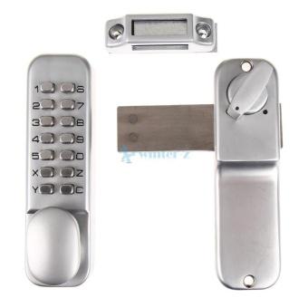 Digital Push Tombol Kunci Pintu Kunci Pad Kode Kombinasi Akses Kunci Mekanis INGGRIS-Internasional