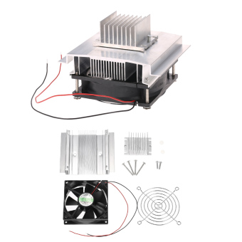 Diseduh sendiri Kit termoelektrik Peltier refrigerasi sistem pendingin semikonduktor Radiator + kipas + konduksi modul -
