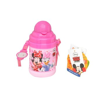 Disney Minnie Mouse Drink Bottle 530 mL Merah Muda