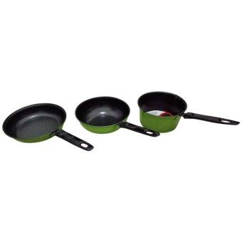 diva-Davi Cookware set 3 pcs - alat masak anti lengket - hijau