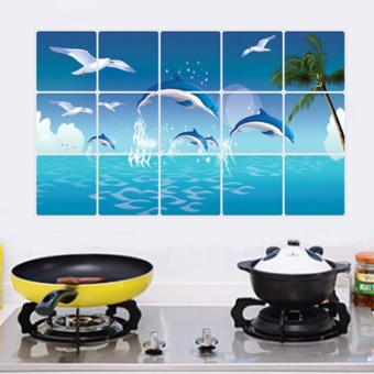 Dolphin Kitchen Waterproof Sticker Bathroom Tile For Wall Sticker Home Decor