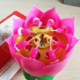 ... Double Lilin Musik Bunga Teratai Lampu Berputar Pesta Ulang Tahun Hadiah-Intl - 5