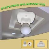 ... EELIC FIG-771 6 PCS Fitting Lampu Segi Plafon Modern Rumah Lampu Plafon Ukuran E27 ...
