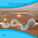 ... EELIC FIG-881 6 PCS Fitting Lampu Plafon Keramik Bulat Rumah Lampu Plafon Ukuran E27 ...