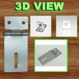 Detail Gambar EELIC KEG-2IF 1 PCS SILVER Kunci Engsel Gembok Over Plat Engsel Grendel Terbaru
