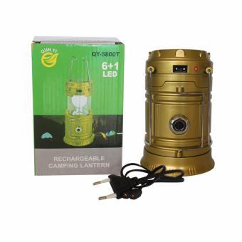 EELIC QY-5800T 1W + 6 SMD LED Warna Kuning Lampu senter / Lentera Multifungsi