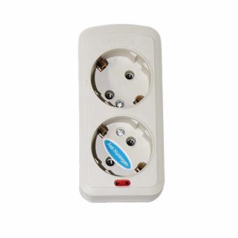 EELIC STK-0934 Stop Kontak 2 Lubang Socket untuk Steker 2 Kaki Lampu Indikator