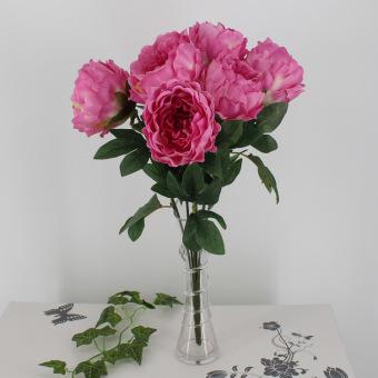 Eropa Tinggi Simulasi Peony Bouquet Buatan Bunga Hiasi dengan Ruang Tamu (Rose Merah)