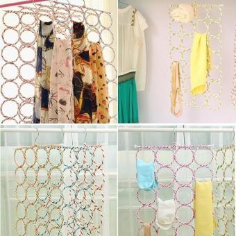 Family Choice Hanger untuk Menggantung Jilbab / Syal / Belt dengan 28 Gantungan .