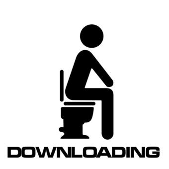 Fancycube Baru Dapat Dilepas Tahan Air Toilet Wall Stiker Hitam
