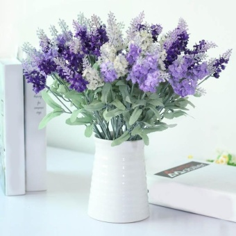 Fashion 10 Heads Artificial Lavender Flower Silk Romantic Flowers For Decoration - intl
