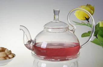 Filter Kaca Transparan Bunga Tealeaf Teko Tahan Panas Infuser 600 Ml